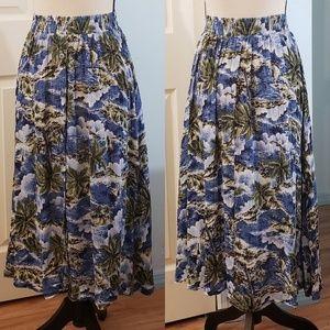 Vintage | Island Print Skirt